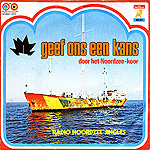 het Radio Noordzee-koor - colorfull label print and picture cover